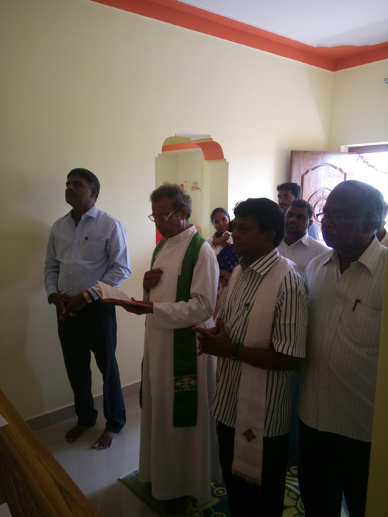 Prayer and blessings by Rev. Durai Raj and Fr. Clement Rosario.