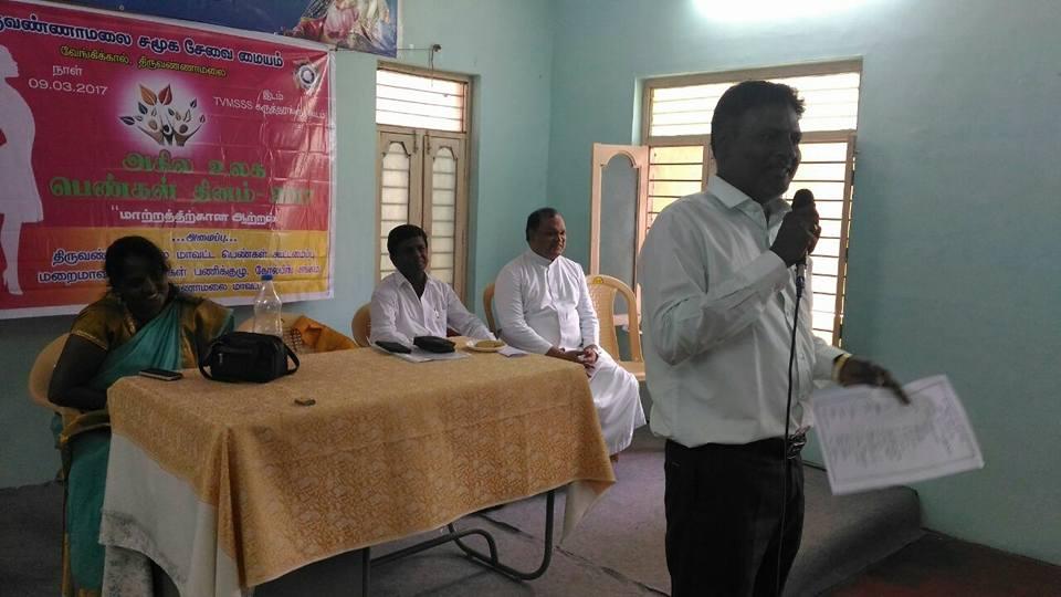 Le 9 mars POPE a été invité par le département des services sociaux de Thiruvannamalai.