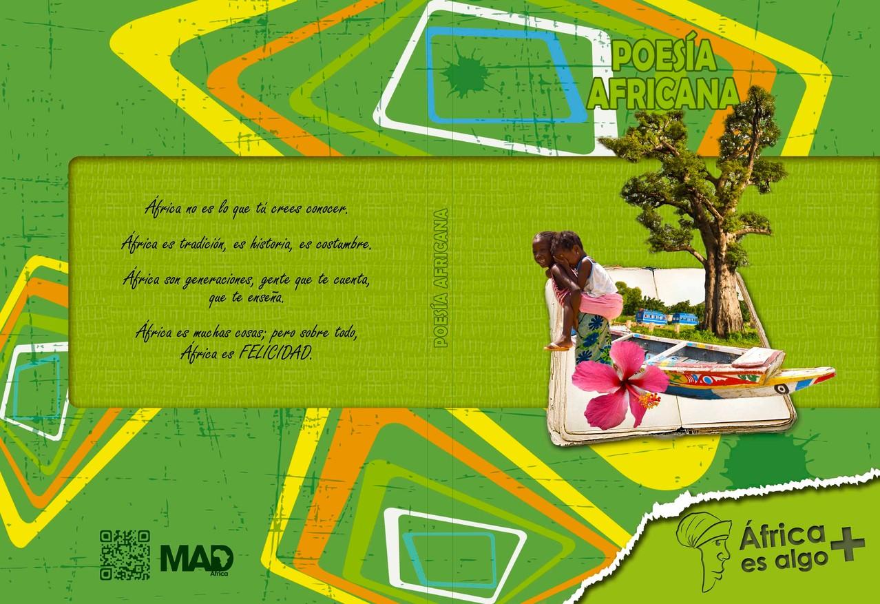 """Portada y contra portada del Libro """"Gastronomía africana"""" del proyecto """"África es algo más"""""""