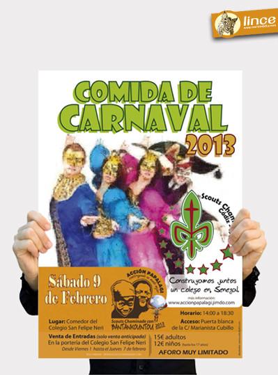 Cartel comida de carnaval 2013