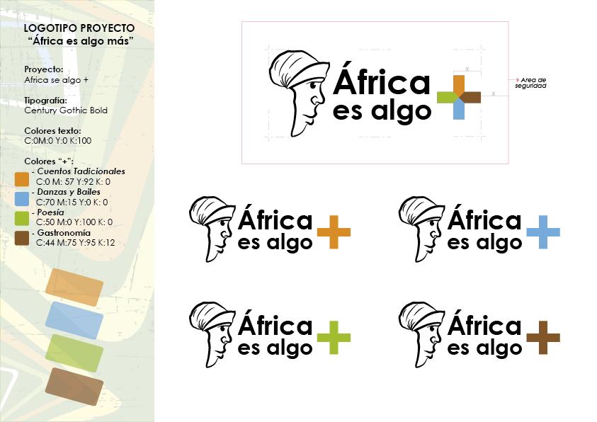 """Logotipos del proyecto """"África es algo más"""""""