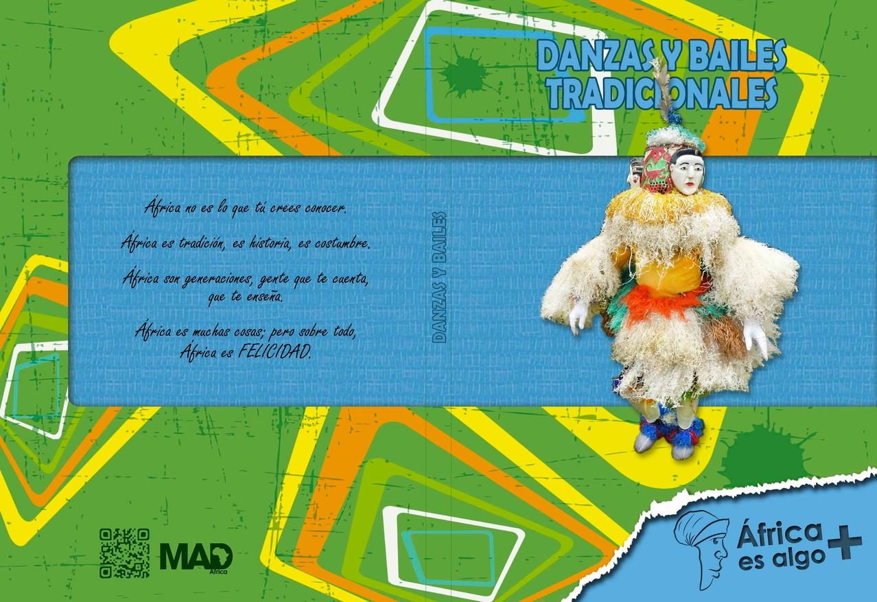 """Portada y contra portada del Libro """"Danzas y bailes tradicionales"""" del proyecto """"África es algo más"""""""