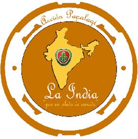 Logotipo de Acción Papalagi en la India del G. Scout Chaminade