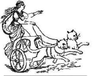 Богиня Фрейя на колеснице