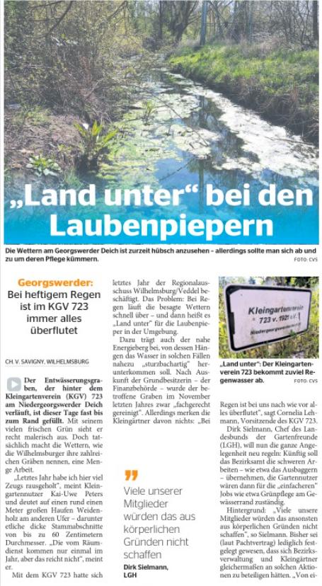 Wochenblatt Wilhelmsburg vom 15.05.2019, Titelseite