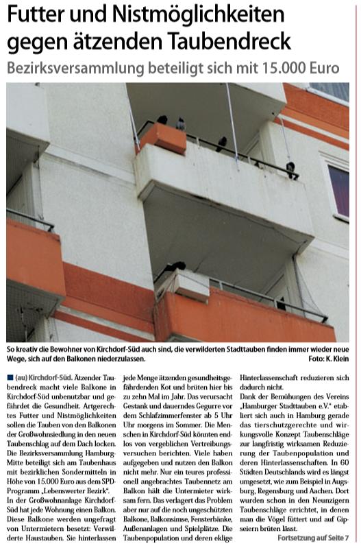 Neuer Ruf Wilhelmsburg vom 02.02.19,  Titelseite und Seite 7