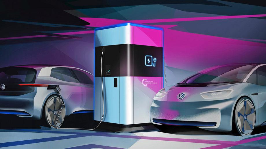 Schnelladung für 4 Autos, Elektroautomobilität, bis zu 100 KW