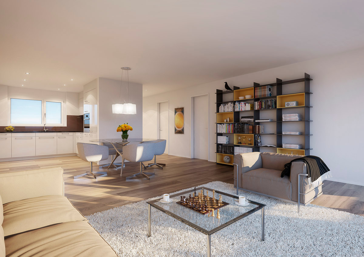 2,5 Zimmer Wohnung Einheit C (Visualisierung)