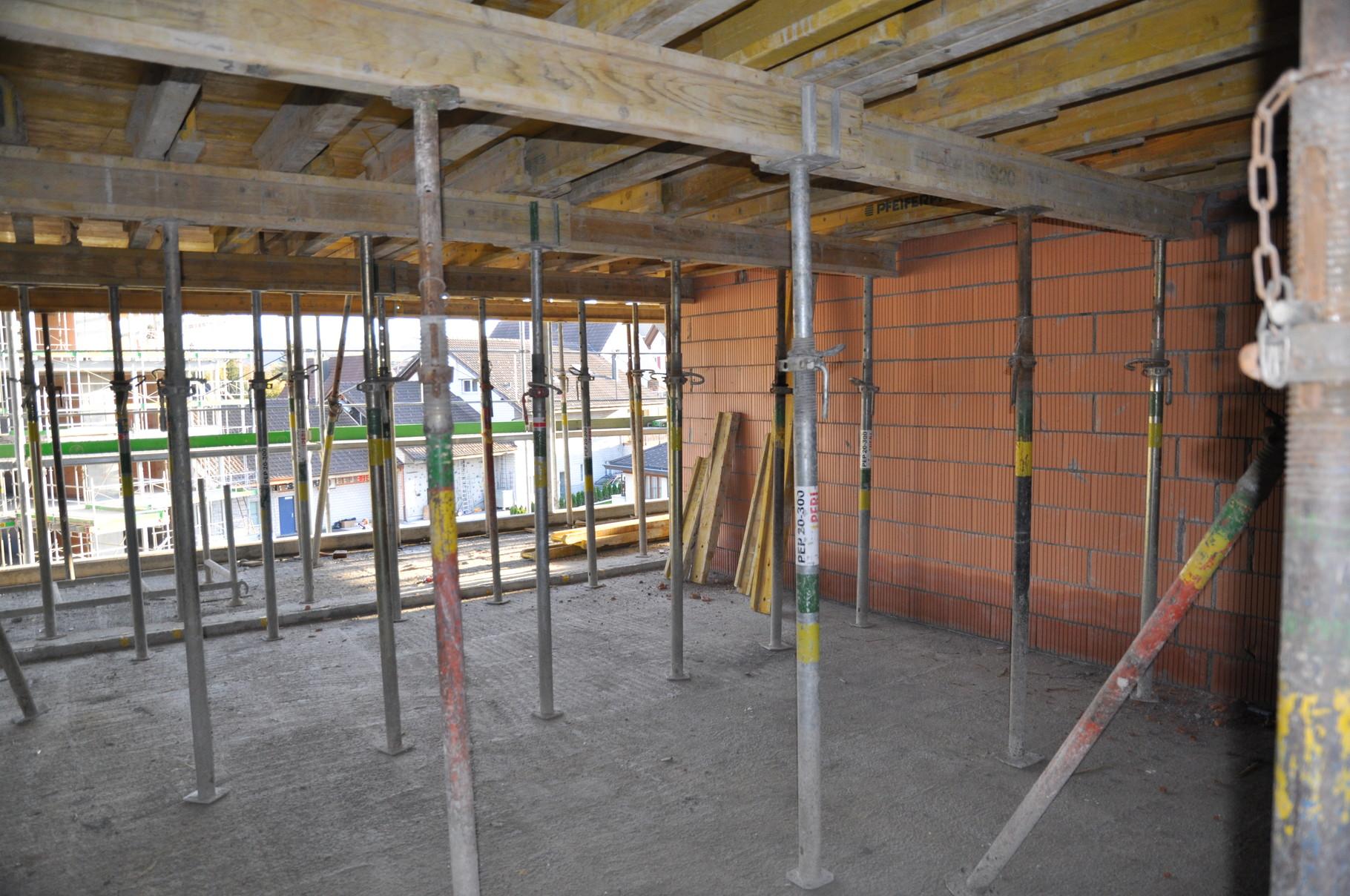 Rohbau Küche/Wohn- und Esszimmer 2,5 Zimmer Wohnung Einheit C
