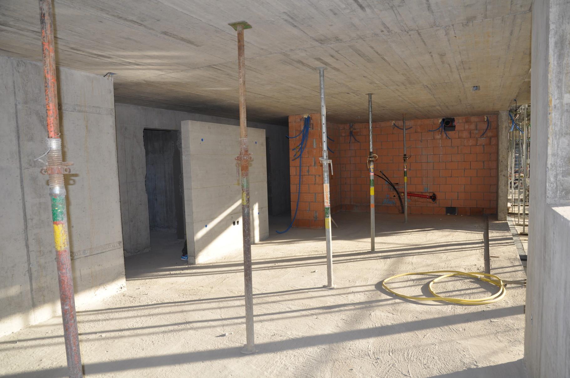 Rohbau Küche/Wohn- und Esszimmer 4,5 Zimmer Wohnung Einheit B