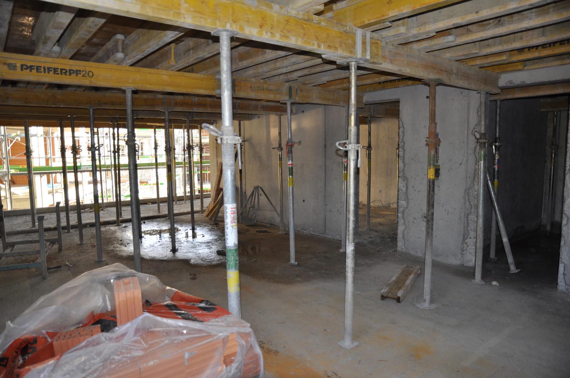 Rohbau Küche/Wohn- und Esszimmer 3,5 Zimmer Wohnung Einheit C