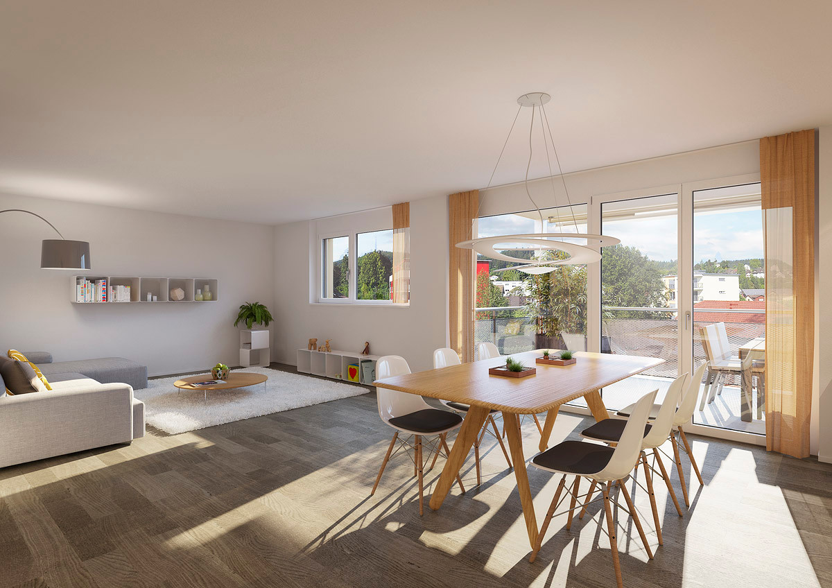 3,5 Zimmer Wohnung Einheit B (Visualisierung)