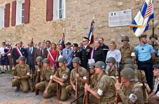 WWII Reinactors meet Those Who Served in St Marc Jaumegarde August 2014