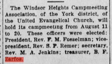 From the Fulton County News (McConnellsburg, PA) 11 June 1912