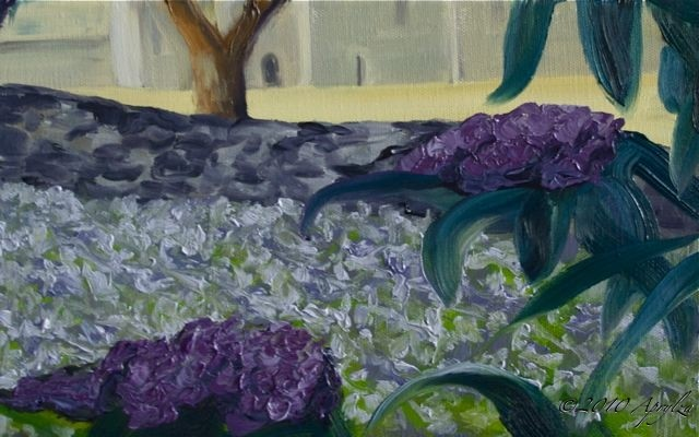 buddleia & lavender at the Sénanque Abbey, 50/20cm oil on canvas