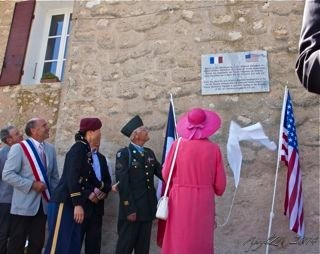 Unveiling memorial to WWII Resistance Martyrs in St Marc Jaumegarde 2011