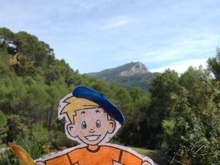 Flat Stanley à la monte Ste Victoire, St Marc Jaumegarde, Aix-en-Provence, France