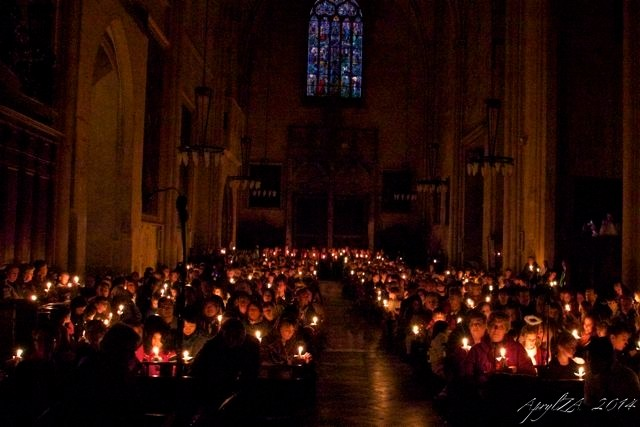 Candlelight Christmas service, Cathedral Aix-en-Provence