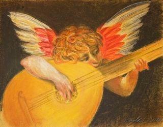 Musical cherub after Rosso Florentino's putto che suono