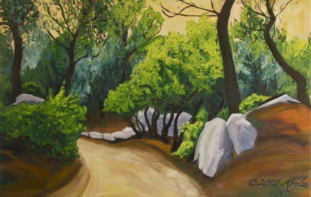 0021-le Chemin de Bibemus, 100/65cm oil on canvas