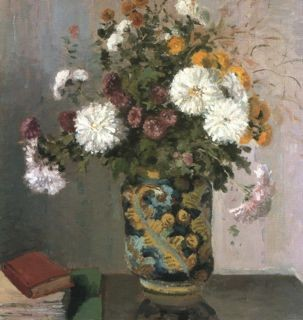 Pisarro's Chrysanthemums in a Chinese Vase