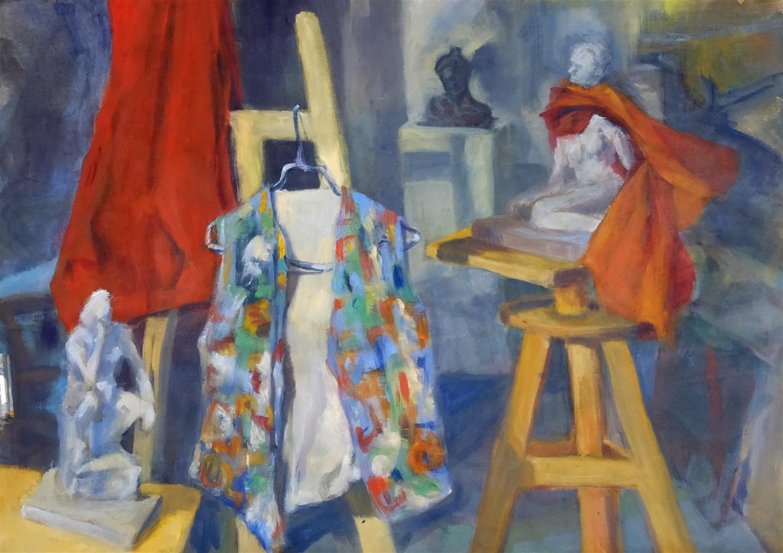 Chemise colorée dans l'atelier