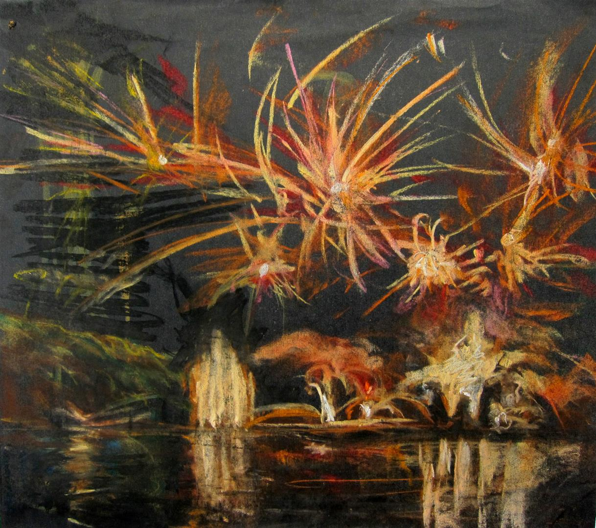 Feux d'artifice (pastel)