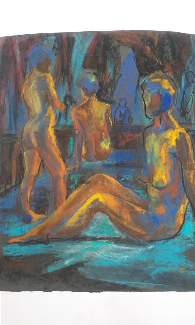 Les trois Nicole (pastel)