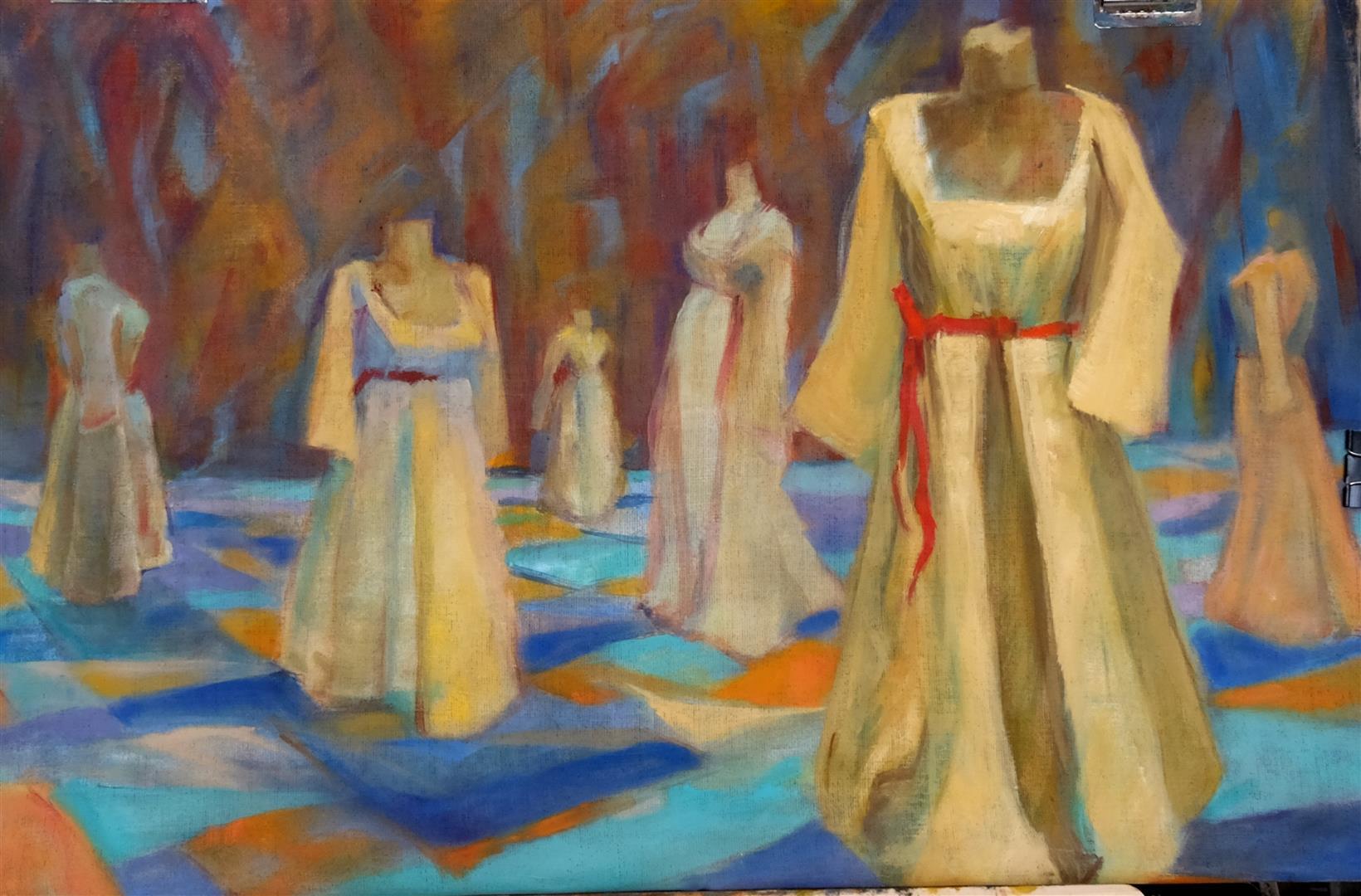 Robes au présentoir