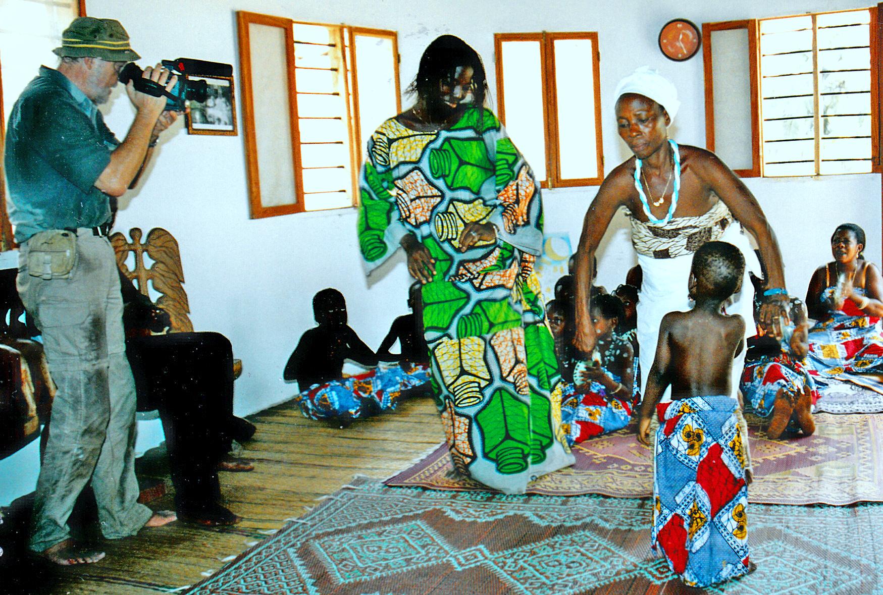 Tänze für uns, die Besucher. Benin