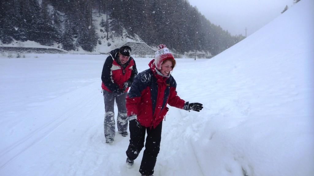 Liebe geht durch den Schnee