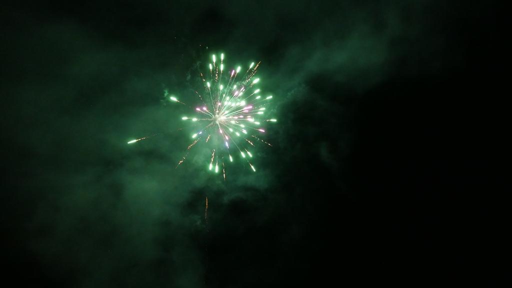Sensation!!! ein Feuerwerk für uns...