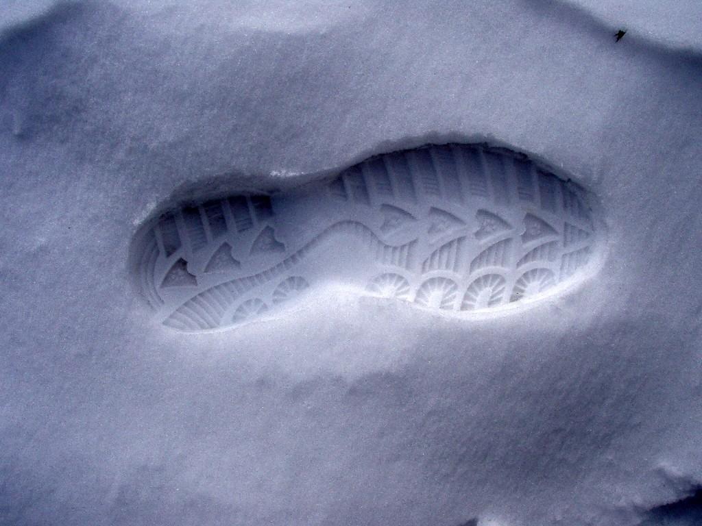 Deine Spuren im Schnee......