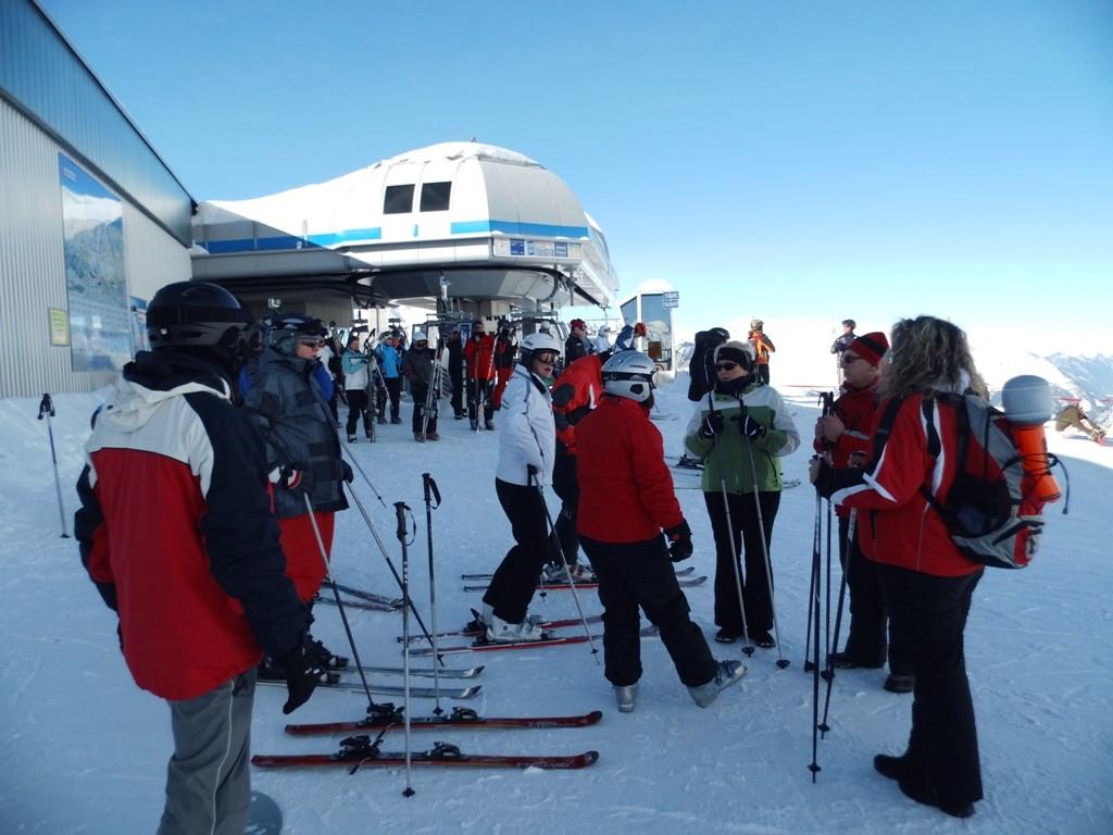 Ski heil und Abfahrt