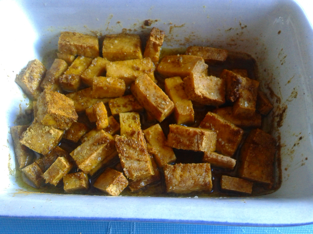 Tofu nach dem Backen