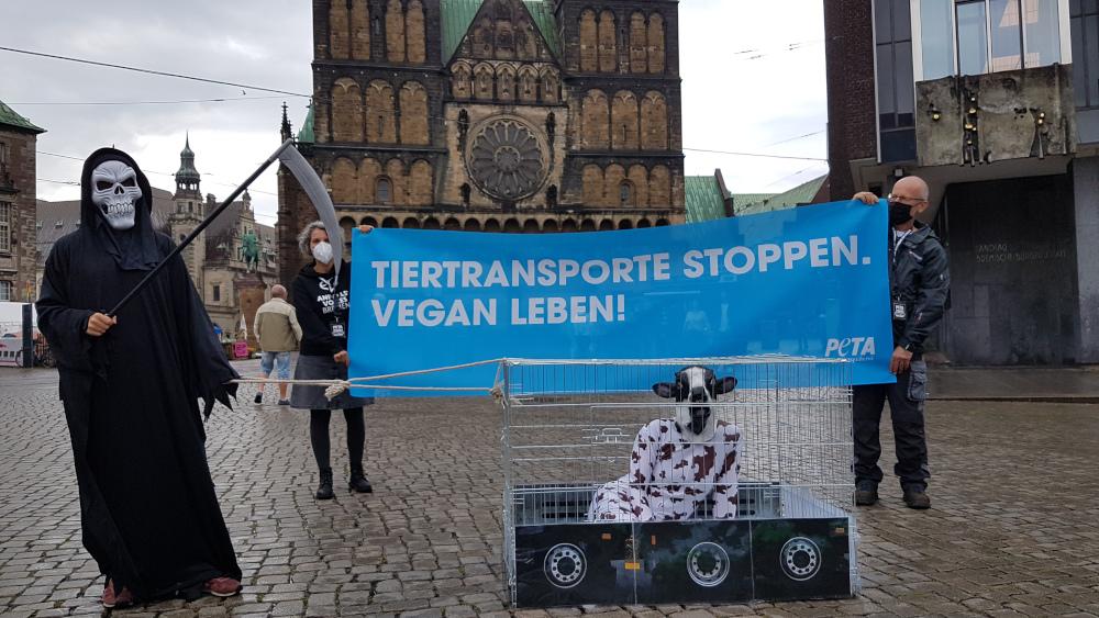 Protest in Bremen:© PETA Deutschland e.V.