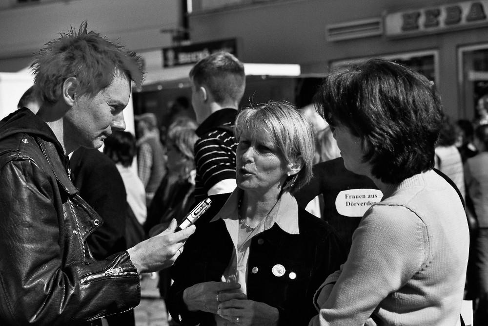 """Interview auf Demo """"Verden bleibt bunt!"""""""