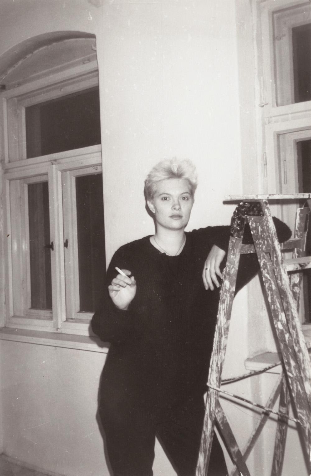Kirsi 1988 in Dresden. Copyright: Ilanga Films