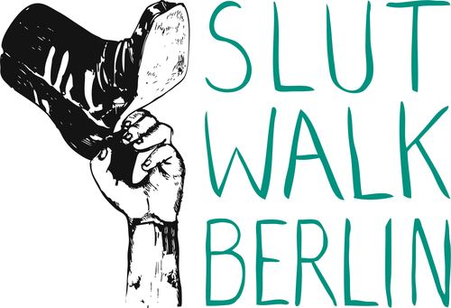 SlutWalk Berlin 2012 Logo green-black (created by Julia Preuss - original by Marcelina Amelia)