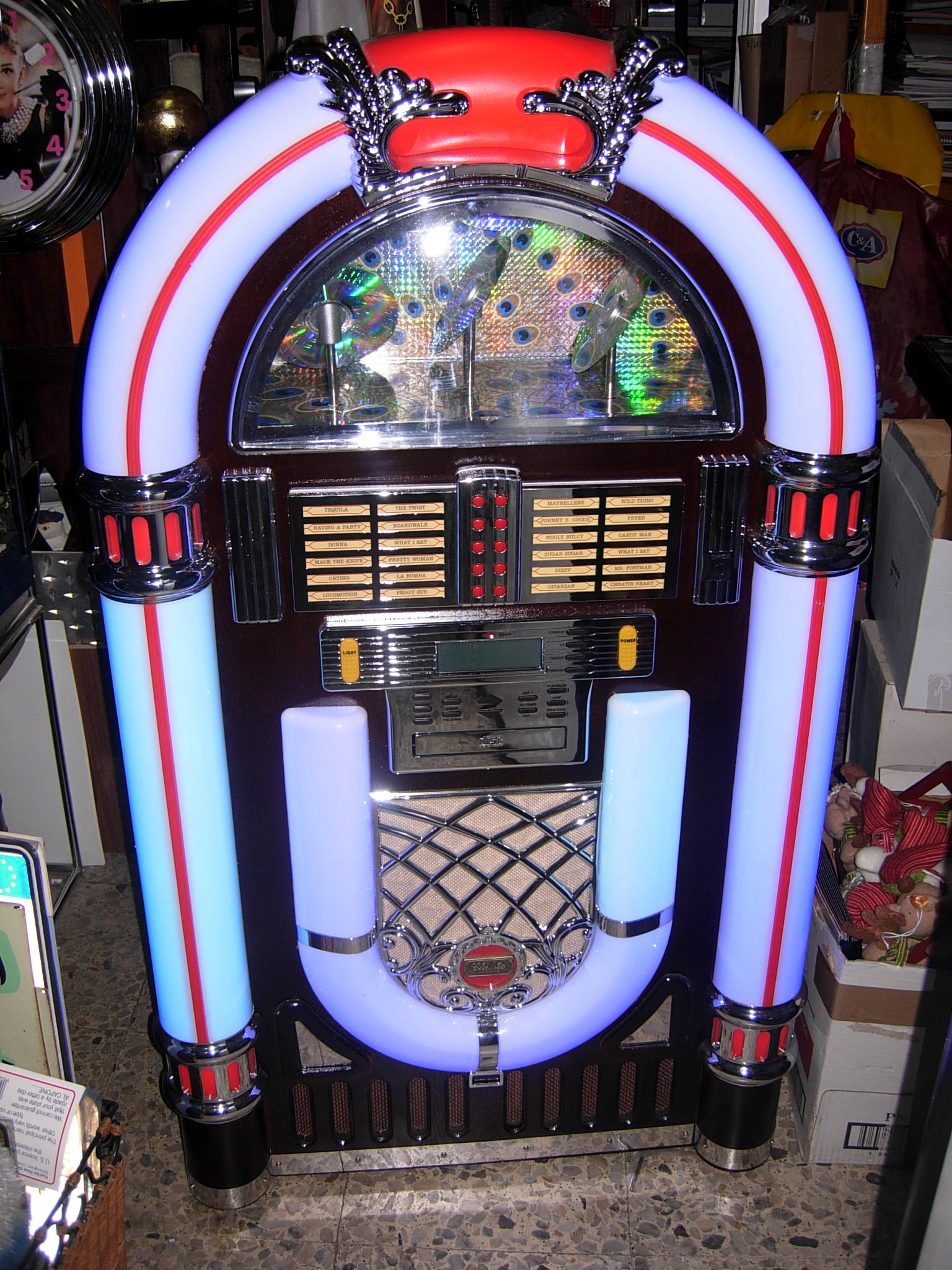 Jukebox en diferentes tamaños