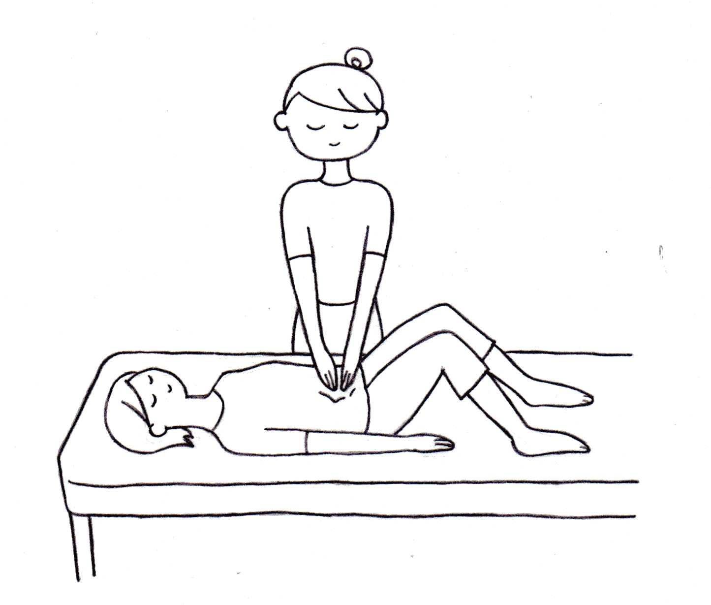 お腹マッサージ ~ 腰痛・お通じの不調・不眠などに幅広く効果の高い手技