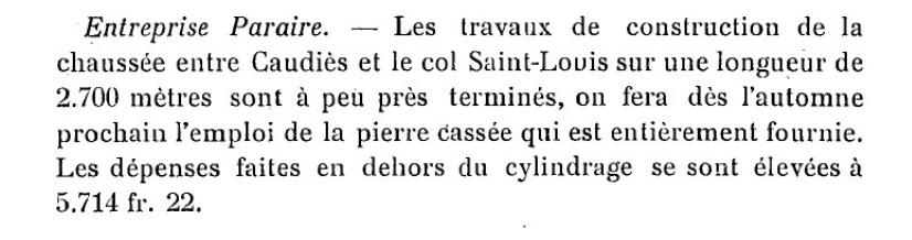 Route Col Saint-Louis 1908