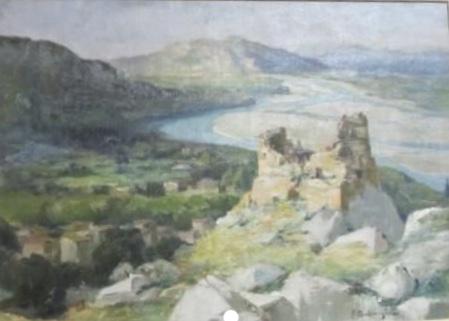 Ruines du chateau d'Orgon surplombant la Durance
