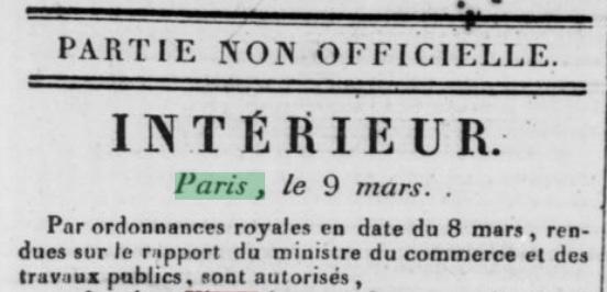 Gazette nationale ou le Moniteur universel, 10 mars 1832 retronews