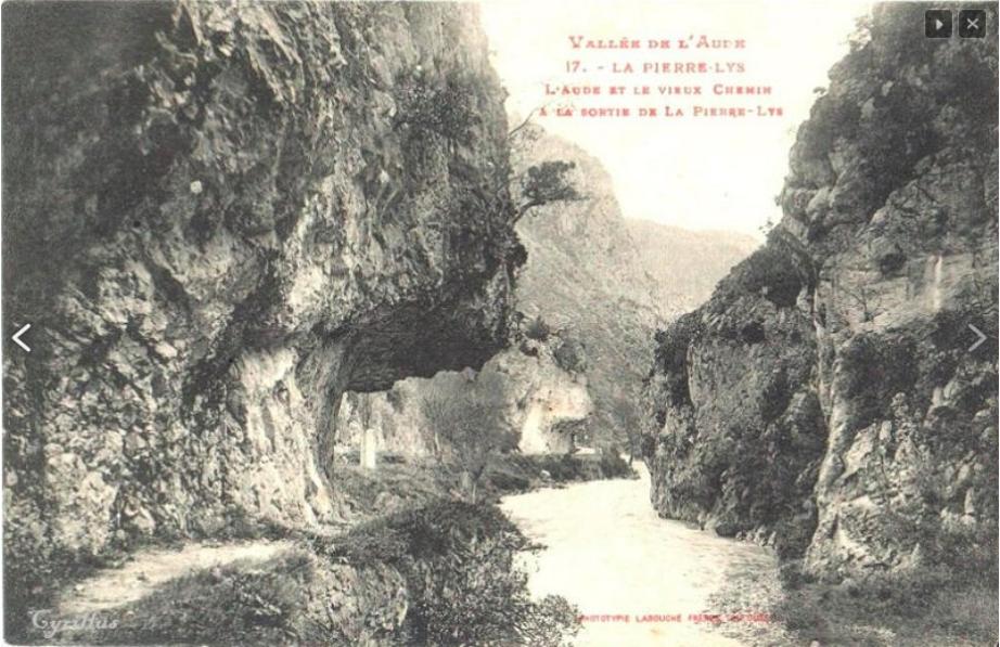 Carte postale ancienne extraite du site quilhan.fr avec l'autorisation de son créateur Michel Moresqui.