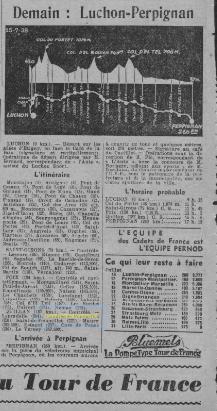 """Journal quotidien """"Ce soir"""" du 16 juillet 1938"""