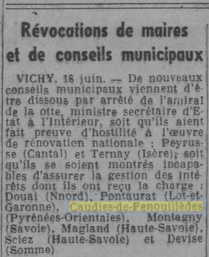 Le Journal - 19  juin 1941 (gallica.bnf.fr)