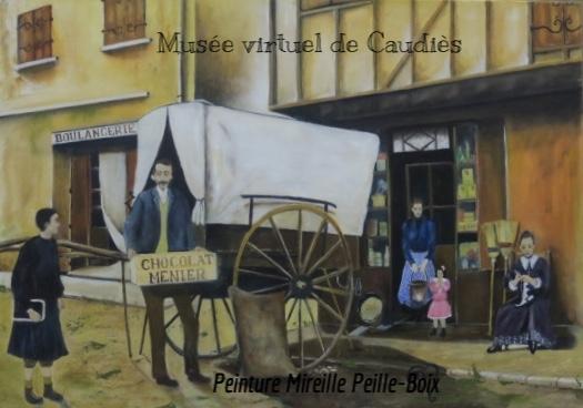 L'épicerie MILLÉ en 1909 (d'après photo - livre Vergès Mérou)