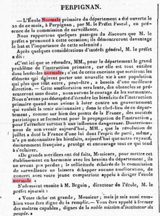 Journal des Pyrénées Orientales, 22 mars 1834