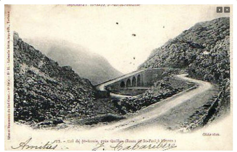 Carte postale ancienne extraite du site quillhan.fr avec l'autorisation de son créateur Michel Moresque.
